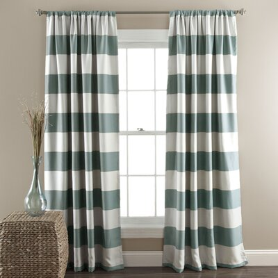 Regatta Striped Blackout Thermal Curtain Panels