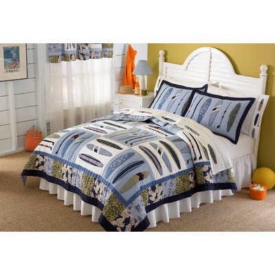 Hang Ten Quilted Bedding Set Size: Queen