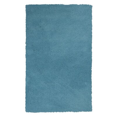 Shaggy Hand-Woven Blue Area Rug Rug Size: Rectangle 5 x 7