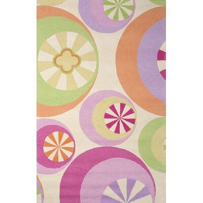 Candy Lane Hand-Woven Pastel Rug Rug Size: Rectangle 76 x 96