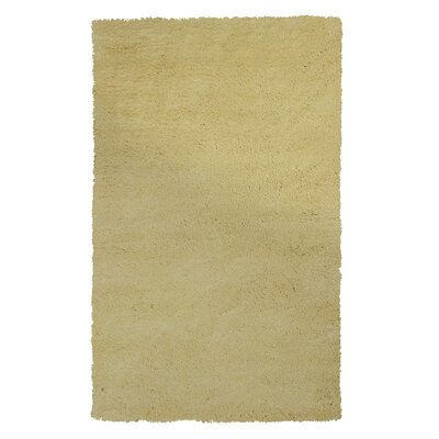 Shaggy Yellow Rug Rug Size: 33 x 53