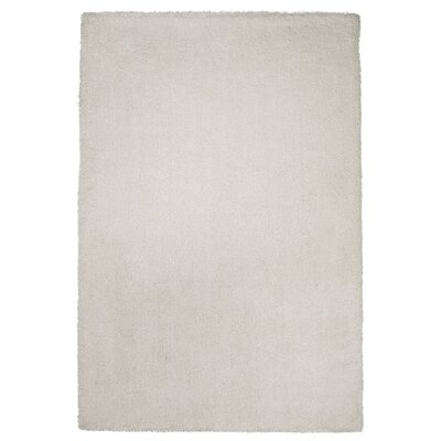Shaggy Hand-Wovenv White Area Rug Rug Size: Rectangle 76 x 96