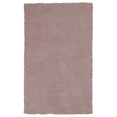 Shaggy Rose Hand-Woven Rose pink Area Rug Rug Size: Rectangle 33 x 53