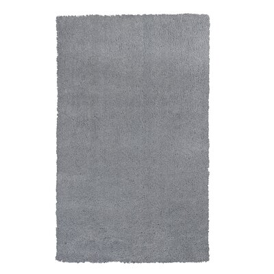 Shaggy Hand-Woven Gray Area Rug Rug Size: Rectangle 76 x 96