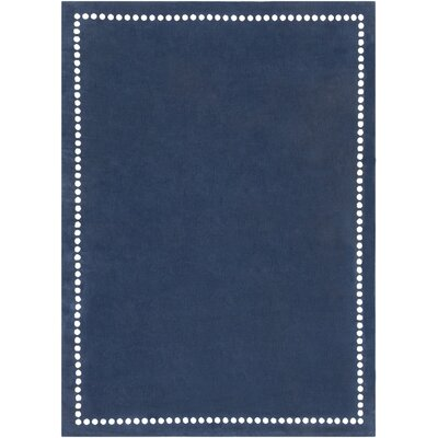 Dotted Line Navy Area Rug