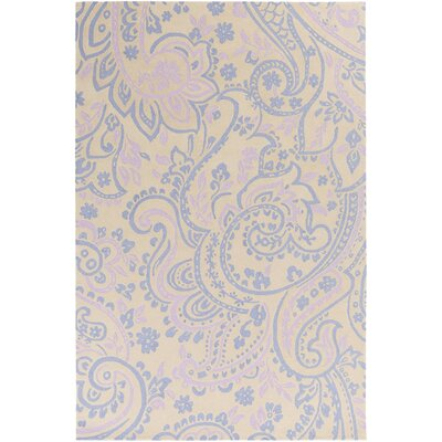 Paisley Purple Rug Rug Size: Rectangle 5 x 76