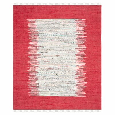 Static Red Rug Rug Size: 8 x 10