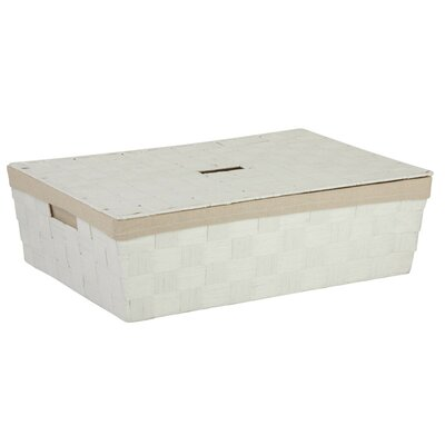 Lidded Underbed Basket Color: White
