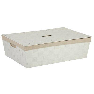 Lidded Underbed Basket Color: White