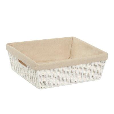 Basket Case Lined Basket Color: White, Size: 5