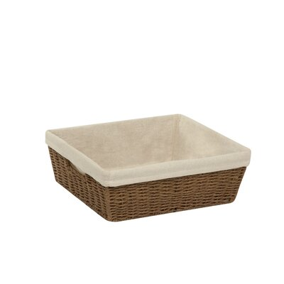 Basket Case Lined Basket Color: Brown, Size: 5