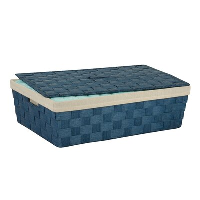 Lidded Underbed Basket Color: Blue