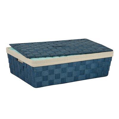 Lidded Underbed Basket Color: Blue