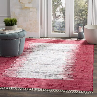 Static Red Rug Rug Size: 5 x 8