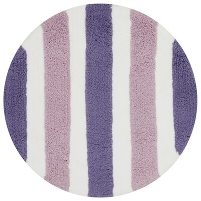 Stripe Out Purple Rug Rug Size: Round 3'