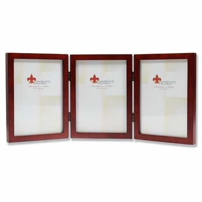 Trio Hinged Wood Picture Frame Color: Satin Walnut, Size: 4