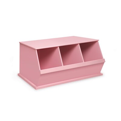 Go-To Storage Cubby Color: Pink, Bins: 3