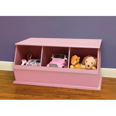 Go-To Storage Cubby Bins: 3, Color: Pink