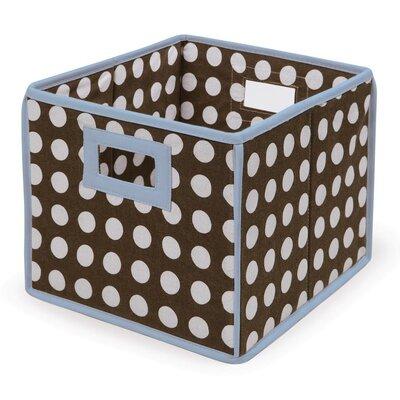 Polka Dot Basic Storage Cube Color: Brown Polka Dots with Blue Trim