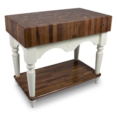 American Heritage Prep Table Base Finish: Alabaster