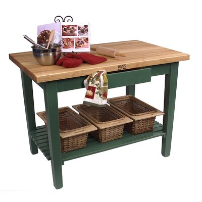 Cheap John Boos American Heritage Classic Country Butcher Block Table (JB1100)