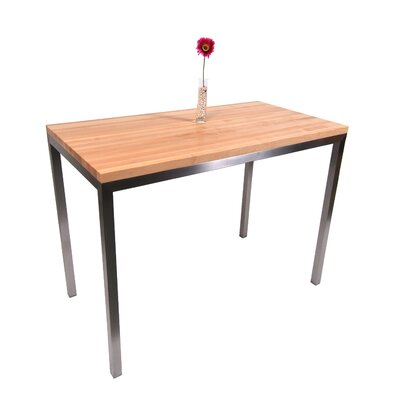 Metropolitan Designer Prep Table with Wood Top