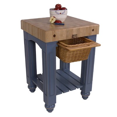Butcher Block Portable Kitchen Islands and Kitchen Carts - Kitchen ...