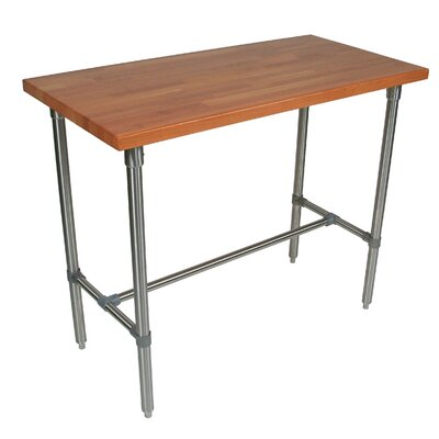 Cucina Americana Counter Height Extendable Dining Table Size: 36 H x 48 W x 24 D, Finish: Cherry