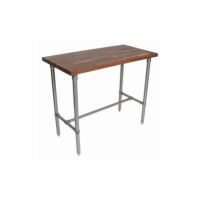 Cucina Americana Counter Height Dining Table Finish: Walnut, Size: 36 H x 48 W x 24 D