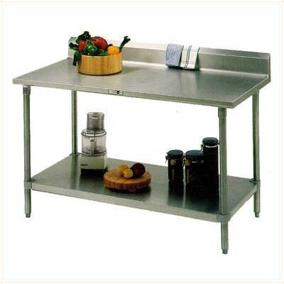 Cucina Americana Prep Table Size: 48 W x 30 D, Casters: Included