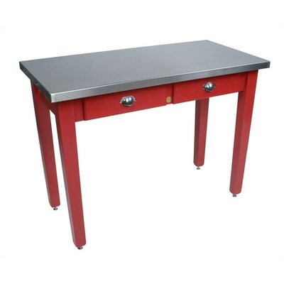 Cucina Americana Prep Table with Stainless Steel Top Size: 48 W x 24 D x 30 H