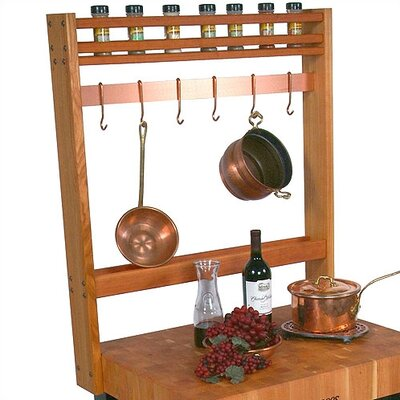 Rouge et Noir Pro Prep Pot Rack Number of Hooks: 5, Pot Rack Width: 30""