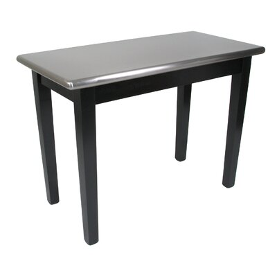 Cucina Americana Prep Table with Stainless Steel Top Size: 48 W x 30 D, Base Finish: Caviar Black