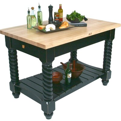 American Heritage Prep Table Size: 72W x 32D x 36H, Base Finish: Caviar Black