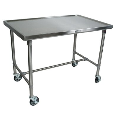 Cucina Americana Prep Table Size: 35.5 H x 48 W x 24 D, Casters: No Casters