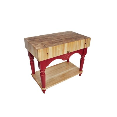 JOHN BOOS AMERICAN HERITAGE CALAIS BUTCHER BLOCK TABLE ...