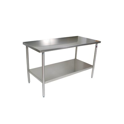 Cucina Americana Prep Table Size: 48 W x 24 D, Casters: Included