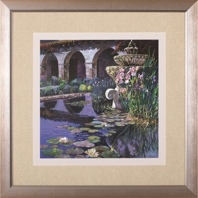 Image of 'Fountain At San Miguel I' by Clif Hadfield Framed Painting Print