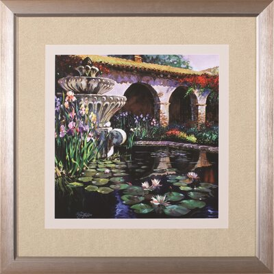 Image of 'Fountain At San Miguel II' by Clif Hadfield Framed Painting Print