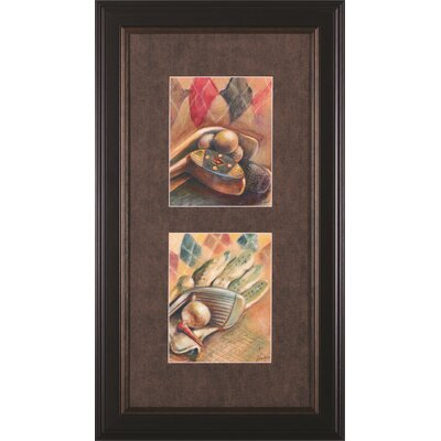 Golf Classic Iii & Iv By Ethan Harper Framed Painting Print