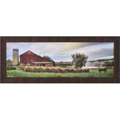 Hay Harvest By Lori Deiter Framed Photographic Print