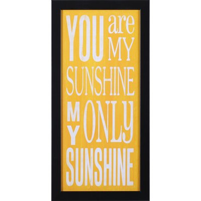 Art Effects You Are My Sunshine Wall Art at Sears.com