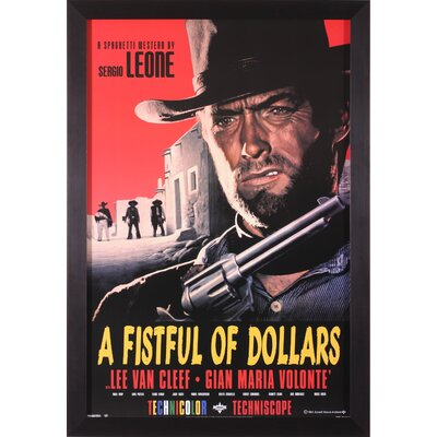 A Fistful of Dollars Framed Vintage Advertisement H85198