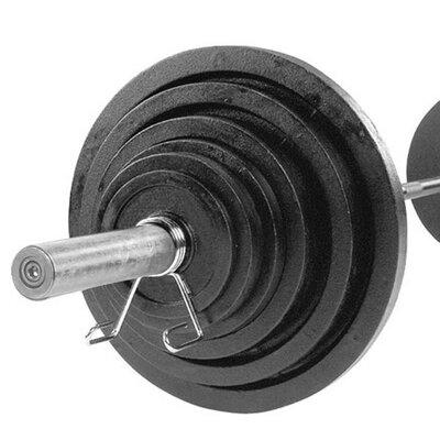 300 lbs Cast Olympic Set with Chrome Bar