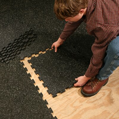 Easy financing Interlocking Rubber Flooring Color:...