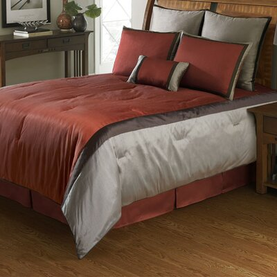 American Century Home 3 Piece Comforter Set Color: Red, Size: King