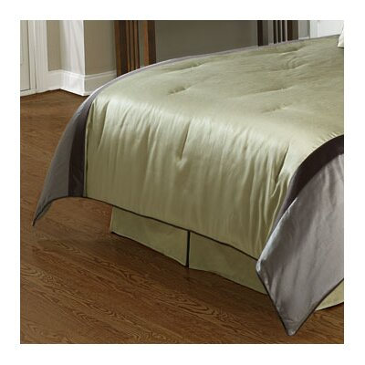 Mitered Faux Silk Bedskirt Size: Queen, Color: Sage