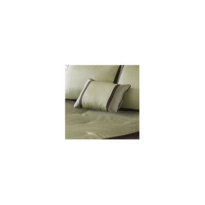 Mitered Silk Lumbar Pillow Color: Sage