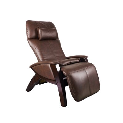 Svago ZG Zero Gravity Massage Chair Upholstery: Chocolate / Black