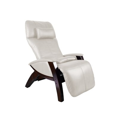 Svago ZG Zero Gravity Massage Chair Upholstery: Ivory / Black